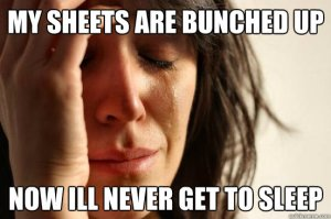 bunched sheets