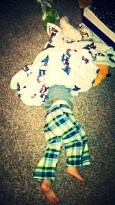 huck sleeps